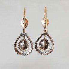 画像3: ゴールド・シルバー・ダイヤモンドイヤリング (3)
