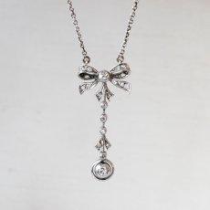 画像1: プラチナ・ホワイトゴールド・.ダイヤモンド ペンダント   (1)