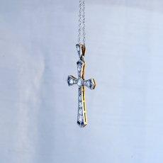 画像2: ゴールド・ダイヤモンド・シセンティックサファイアペンダント (2)