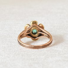 画像3: ゴールド・エメラルド・ダイヤモンドリング (3)