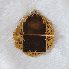 画像2: ゴールド・ダイヤモンド・パール・エナメルブローチ (2)