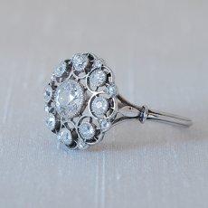 画像2: プラチナ・18ctゴールド・ダイヤモンドリング (2)