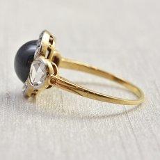 画像3: ゴールド・サファイア・ダイヤモンドリング  (3)
