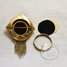 画像3: ゴールド ガーネットフリンジブローチ (3)