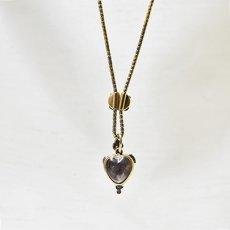 画像4: ゴールド.シルバー,.ガーネット ・ダイヤモンドペンダント (4)