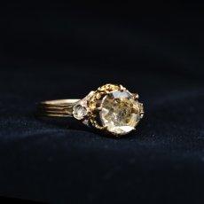 画像4: ゴールド・ダイヤモンドリング (4)