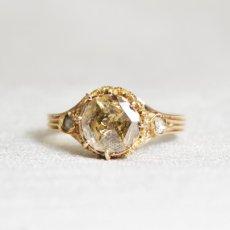 画像1: ゴールド・ダイヤモンドリング (1)