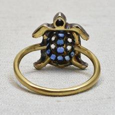 画像4: ゴールド・シルバー・サファイア・ダイヤモンドリング (4)