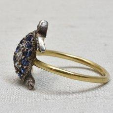 画像3: ゴールド・シルバー・サファイア・ダイヤモンドリング (3)