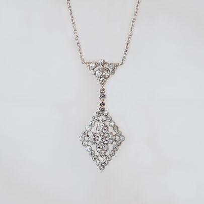 画像1: プラチナ・ダイヤモンドペンダント (1)
