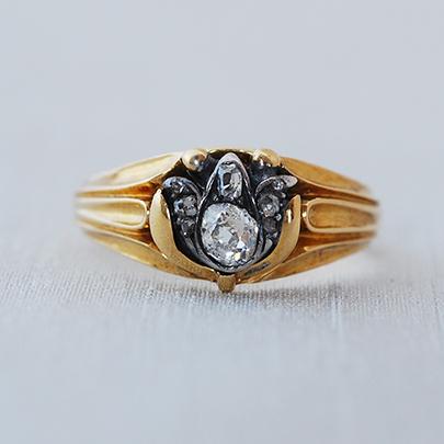 画像1: Gold・Sv・ダイヤモンドリング (1)