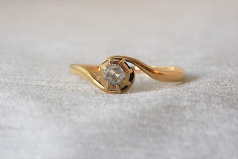 画像1: GOLD・ダイヤモンドリング (1)