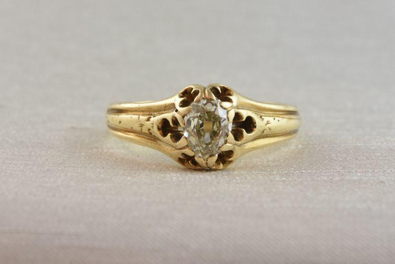 画像1: GOLD,ダイヤモンドリング (1)