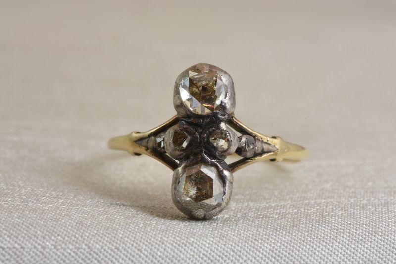 画像1: GOLD,SV・ダイヤモンドリング (1)