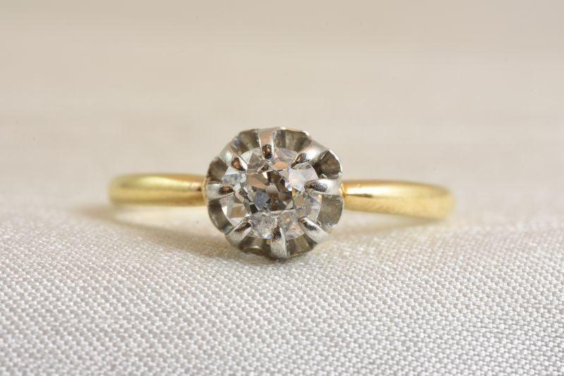 画像1: GOLD.(Pt.)ダイヤモンドリング (1)