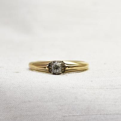 画像1: ゴールド・シルバー ダイヤモンドリング (1)