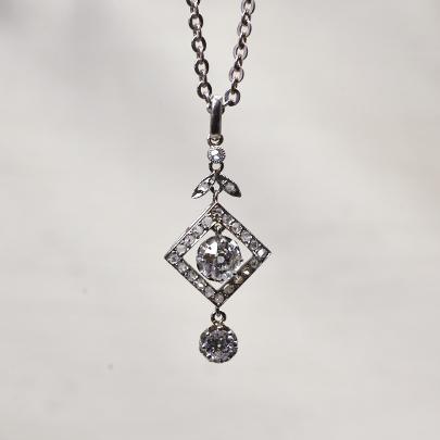 画像1: (pt.wg)ダイヤモンドペンダント (1)