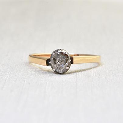 画像1: ゴールド・シルバー・.ダイヤモンドリング (1)