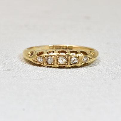 画像1: 18ct.ダイヤモンドリング (1)